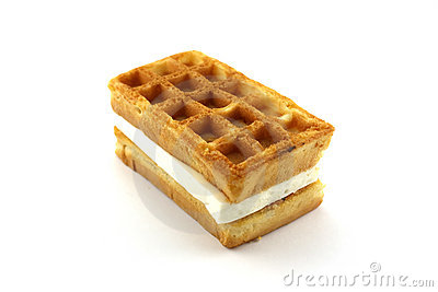 Waffle with filling
