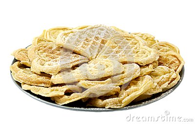 Waffles on white