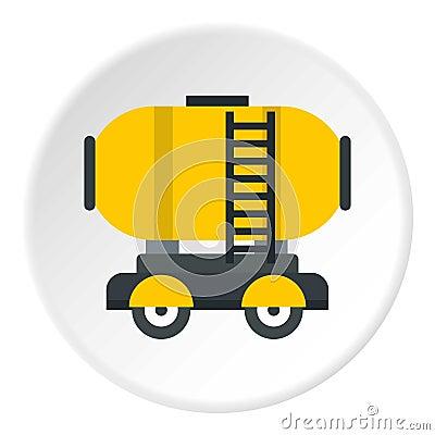 Free Waggon Storage Tank With Oil Icon Circle Stock Photos - 95437733
