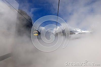 Wagon kolei linowej hailuogo Obraz Stock Editorial