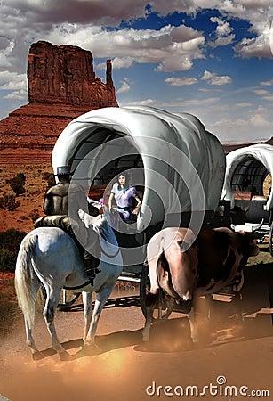 Free Wagon Train Flirt Royalty Free Stock Photo - 22924695