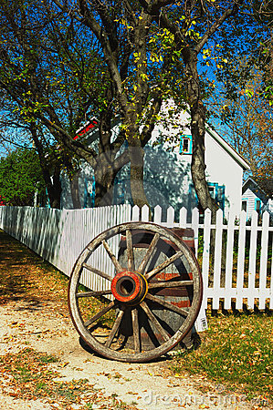 Wagon Wheel and Picket Fence