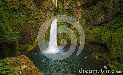 Wahclella Falls Columbia River Gorge Stock Photo