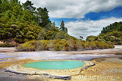 Wai-O-Tapu thermal area, New Zealand