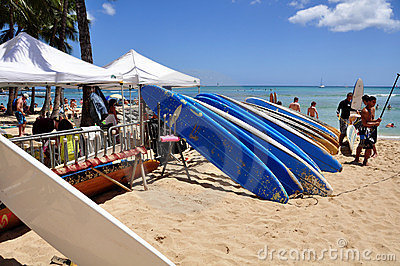 Waikiki beach Editorial Stock Photo
