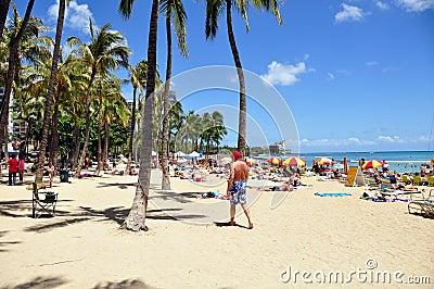 Waikiki beach Editorial Image