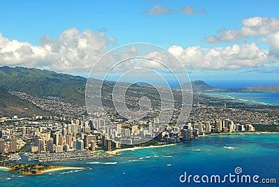 Waikiki Beach From The Air