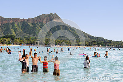 Waikiki Hawaii Editorial Stock Image