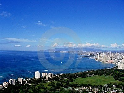 Waikiki and Honolulu cities