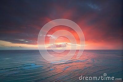 Waikiki resort sunset