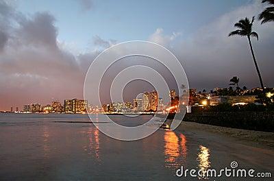 Waikiki Skyline at Sunrise