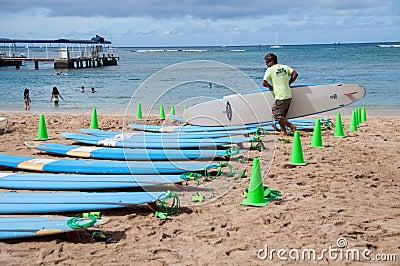 Waikiki surf lessons Editorial Photography