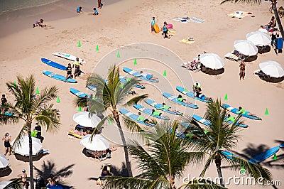 Waikiki surf lessons Editorial Stock Image