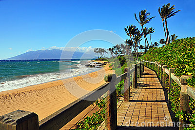 Wailea Beach Walkway, Maui, Hawaii