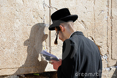 At the Wailing Wall Editorial Photography