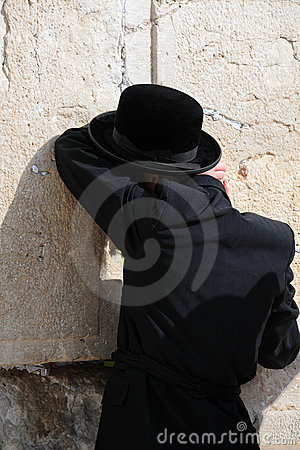 At the Wailing Wall Editorial Stock Photo