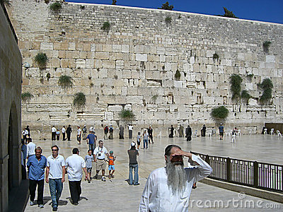 Wailing wall Editorial Photo