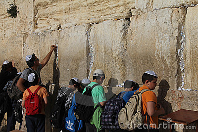 Wailing wall in Jerusalem Editorial Photo