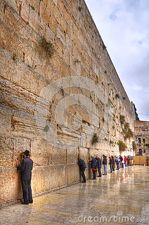 Wailing Wall, Jerusalem Israel Editorial Photography