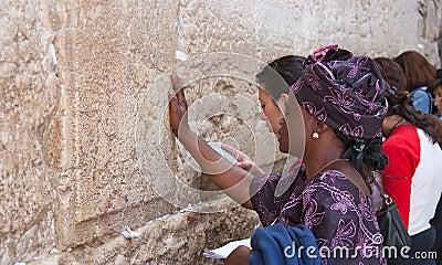 Wailing Wall Jerusalem, prayer Editorial Photo