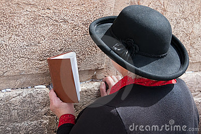 Wailing Wall Jerusalem, prayer Editorial Stock Photo