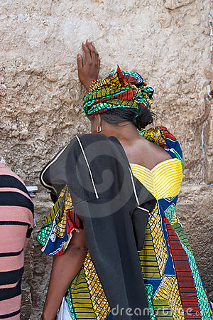 Wailing Wall Jerusalem, prayer Editorial Image