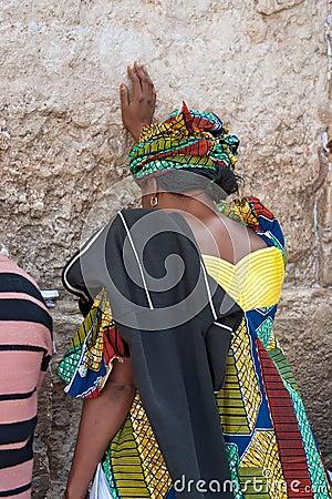 Wailing Wall Jerusalem, prayer Editorial Image