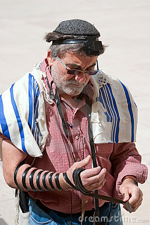 Wailing Wall Jerusalem, praying Editorial Photo