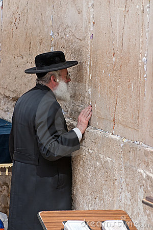 Wailing Wall Jerusalem, praying Editorial Stock Image