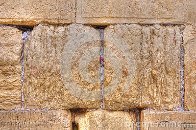 Wailing Wall Slip Notes, Jerusalem Israel