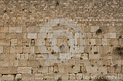 The Wailing Wall, Western wall in Jerusalem