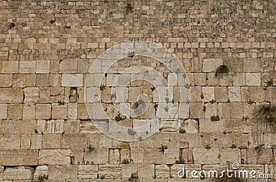 The Wailing Wall, Western wall in Jerusalem