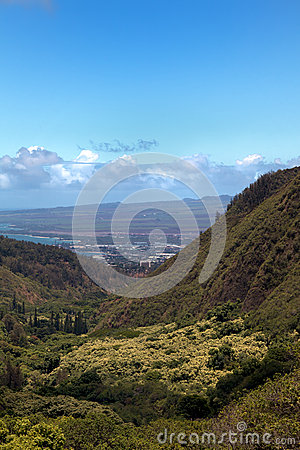 Free Wailuku Seen From Iao Needle State Park Stock Images - 29369584