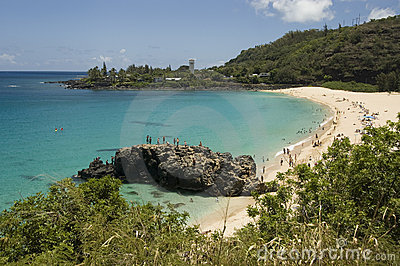 Waimea Beach in Oahu, Hawaii. North Shore