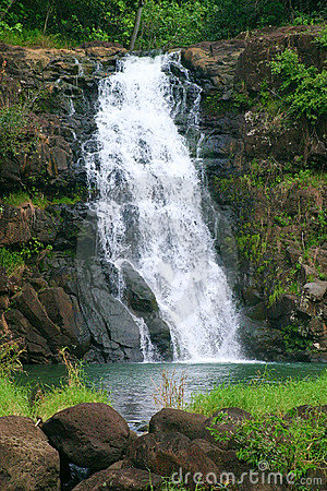 Waimea Falls Waterfall in Hawaii
