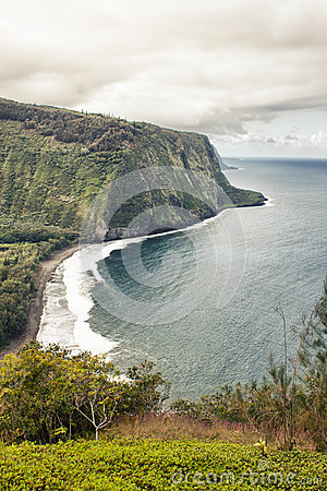 Waipio valley in Hawaii