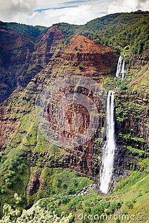 Free Waipoo Falls, Waimea Canyon, Kauai Royalty Free Stock Photos - 94880438