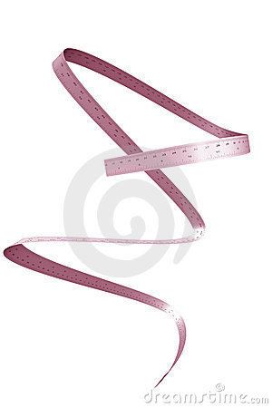Waist ruler slimming concept isolated white