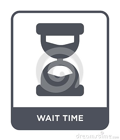 wait time icon in trendy design style. wait time icon isolated on white background. wait time vector icon simple and modern flat Vector Illustration