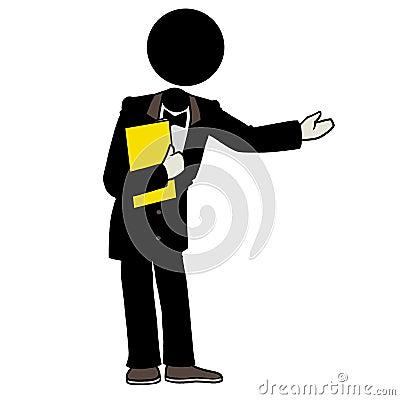 Waiter Serving Clipart