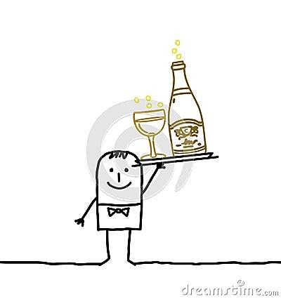 Waiter & Champagne