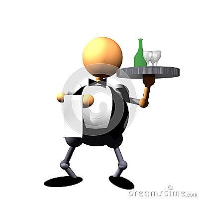 Waiter clipart