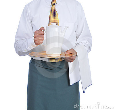 Waiter with Coffee Urn