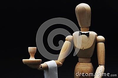 Waiter mannequin