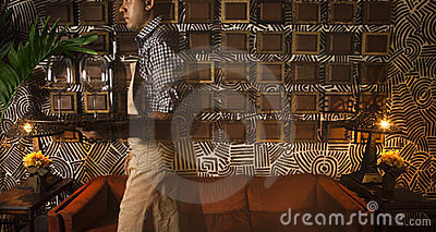 Waiter in a restaurant Editorial Photo
