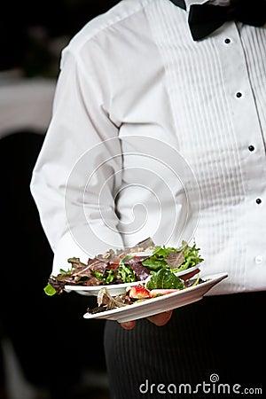 Waiter serving food  - wedding series