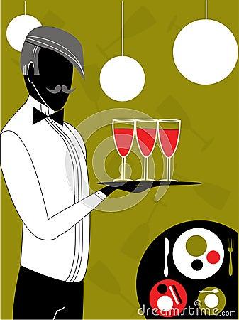 Waiter, vector