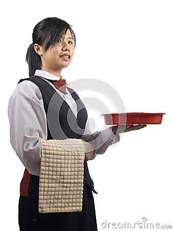 Free Waiteress Royalty Free Stock Photography - 12339997