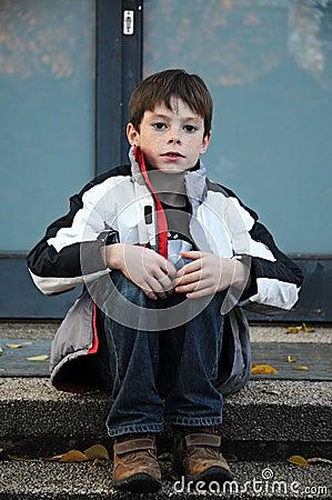 Waiting boy