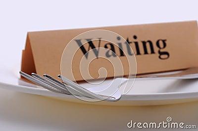 Waiting dinner plate